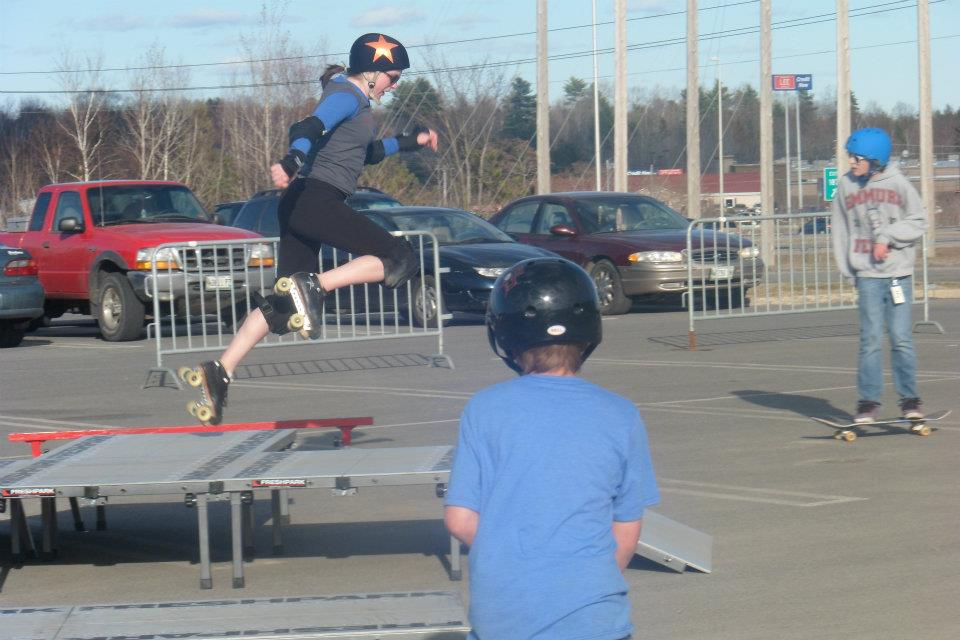 "Last summer I entered a skate competition and they put my in the ""children under 4-feet-tall"" division, based on skill. I tried my best, and ultimately gave myself permission to suck. Because it's OK to suck at things you're still learning. Photo by Dawn Reese."