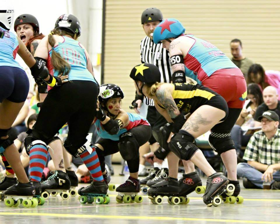 Greensboro Roller Derby photo by Frayed Edge Concepts LLC.
